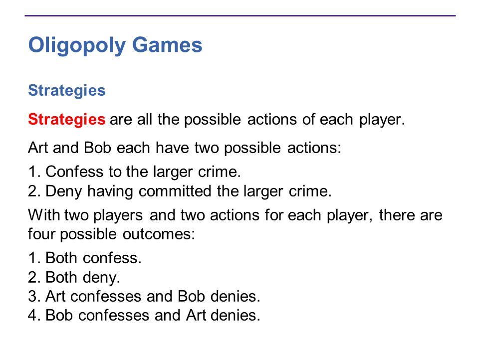 Oligopoly Games Strategies