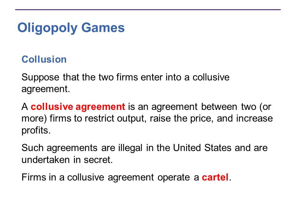 Oligopoly Games Collusion