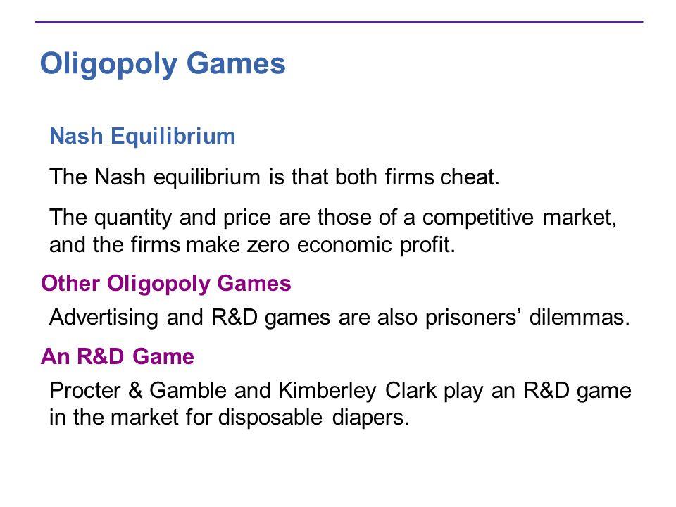 Oligopoly Games Nash Equilibrium