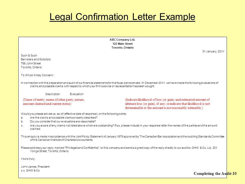 Audit confirmation letter bindrdnwaterefficiency audit confirmation letter spiritdancerdesigns Gallery