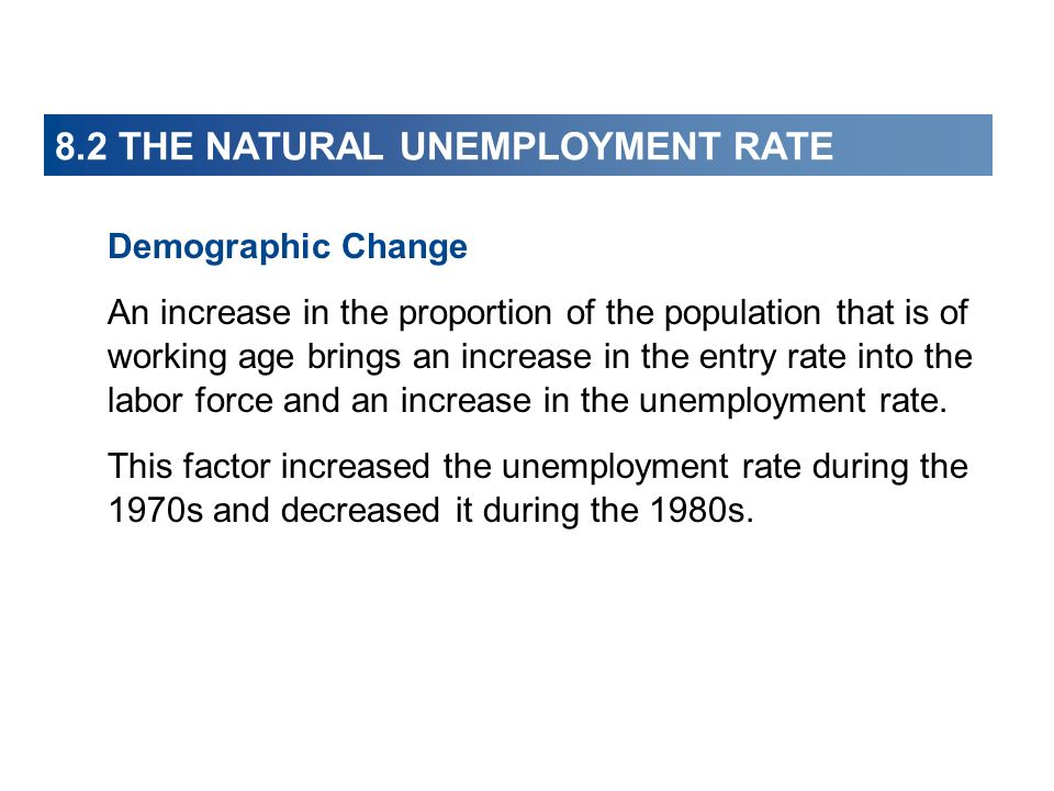8.2 THE NATURAL UNEMPLOYMENT RATE