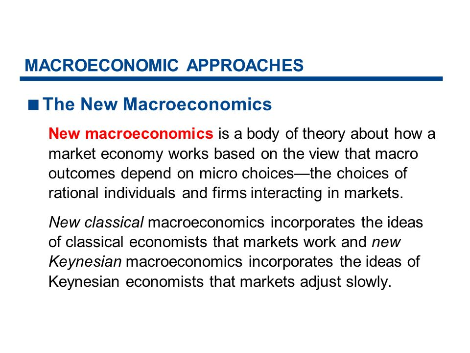 MACROECONOMIC APPROACHES