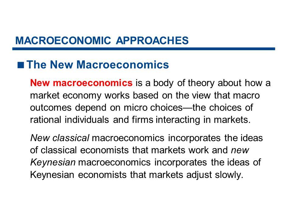 MACROECONOMIC APPROACHES