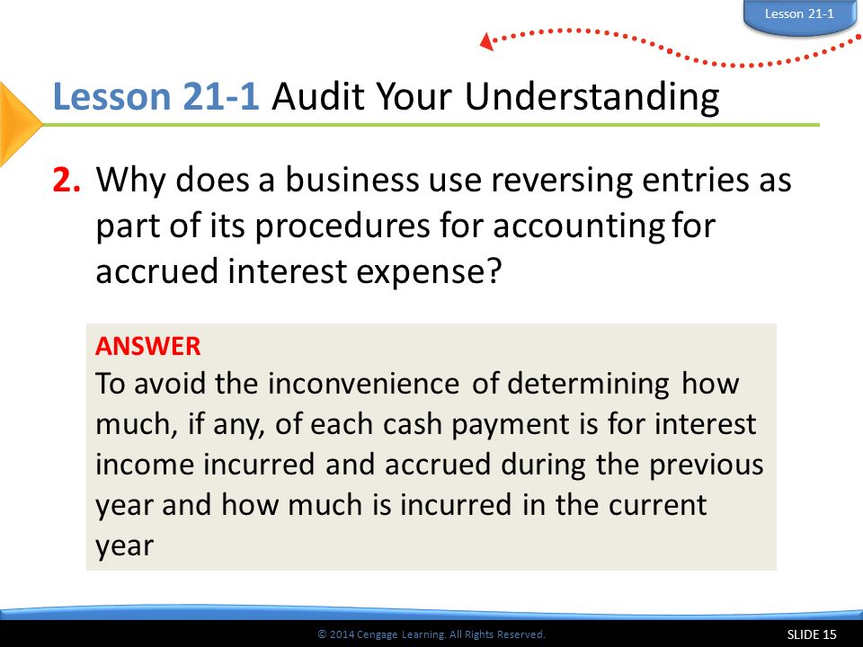 Lesson 21-1 Audit Your Understanding