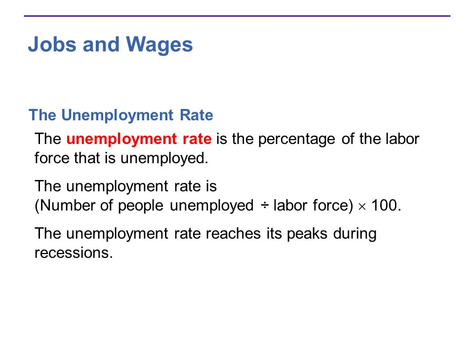 Jobs and Wages The Unemployment Rate