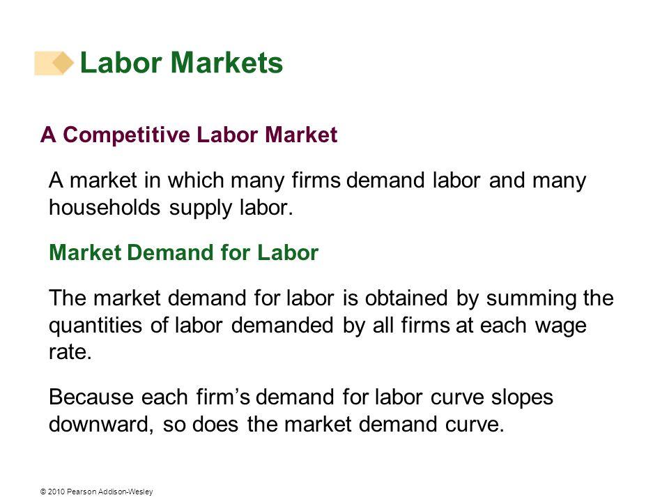 Labor Markets A Competitive Labor Market