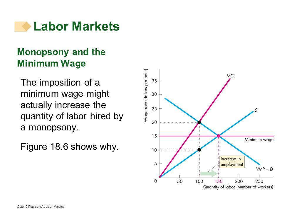 Labor Markets Monopsony and the Minimum Wage