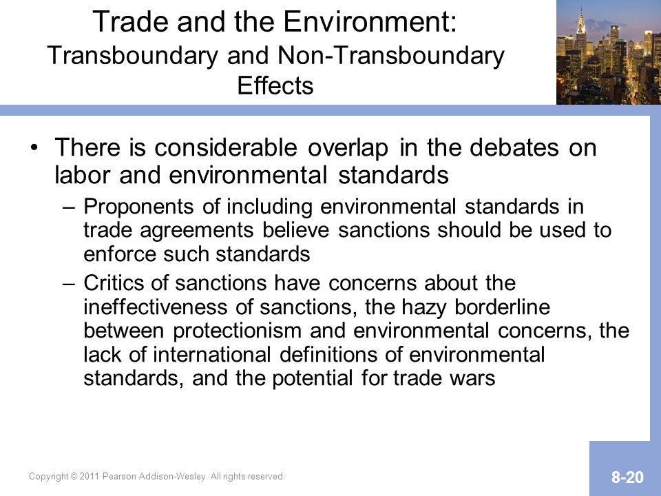 Chapter 8 International Trade And Labor And Environmental