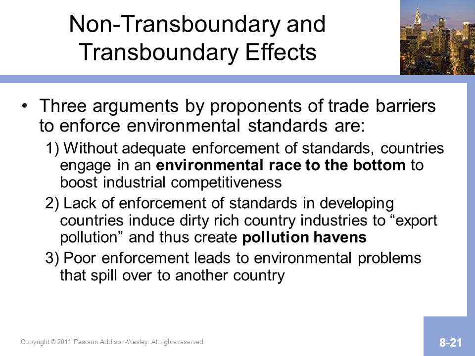 Non-Transboundary and Transboundary Effects