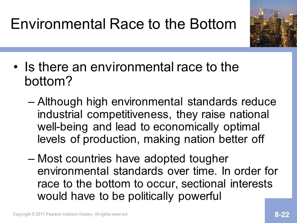 Environmental Race to the Bottom