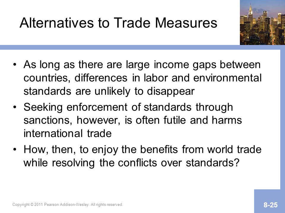Alternatives to Trade Measures