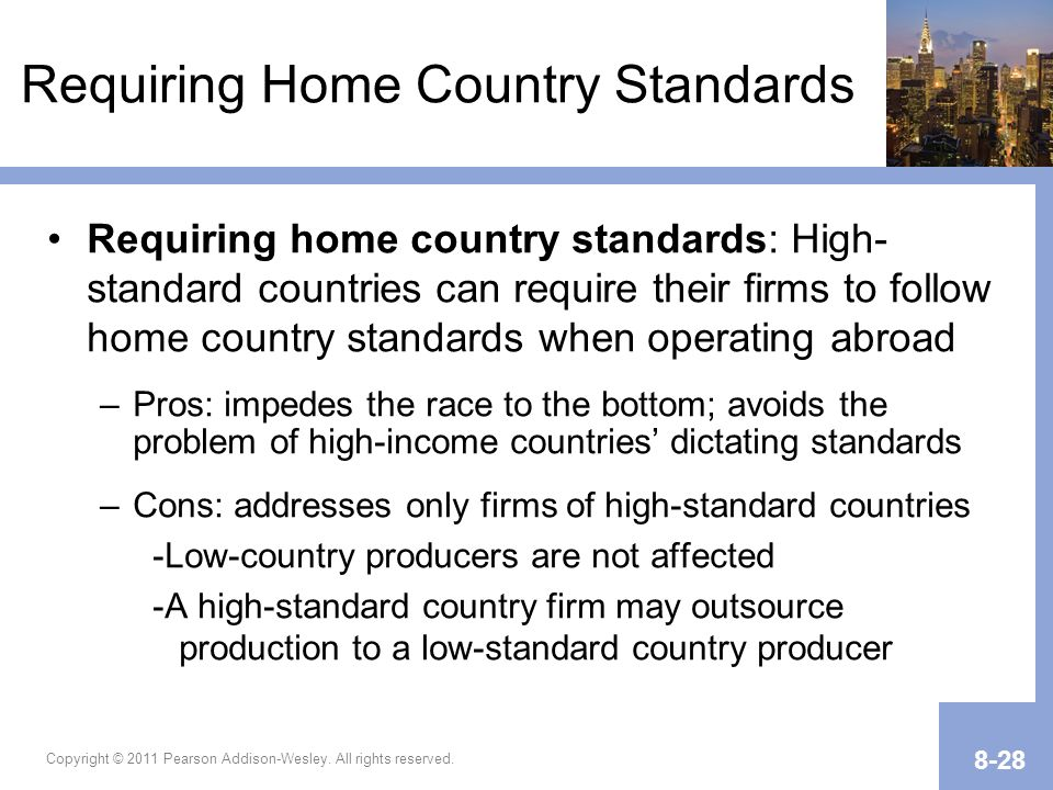 Requiring Home Country Standards