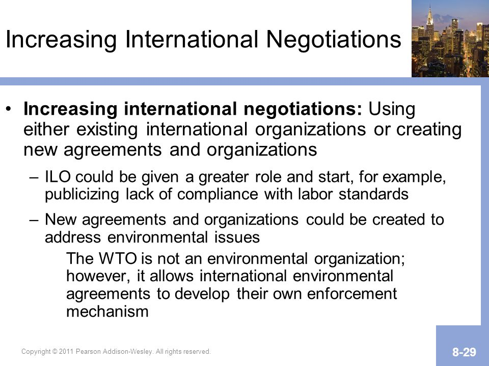 Increasing International Negotiations