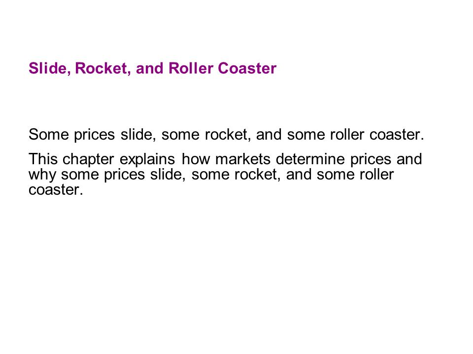 Slide, Rocket, and Roller Coaster