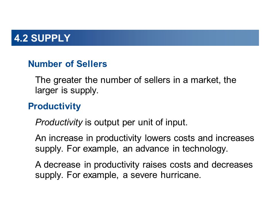 4.2 SUPPLY Number of Sellers