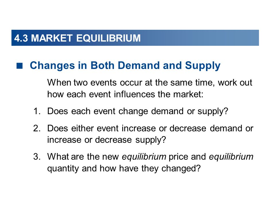 Changes in Both Demand and Supply