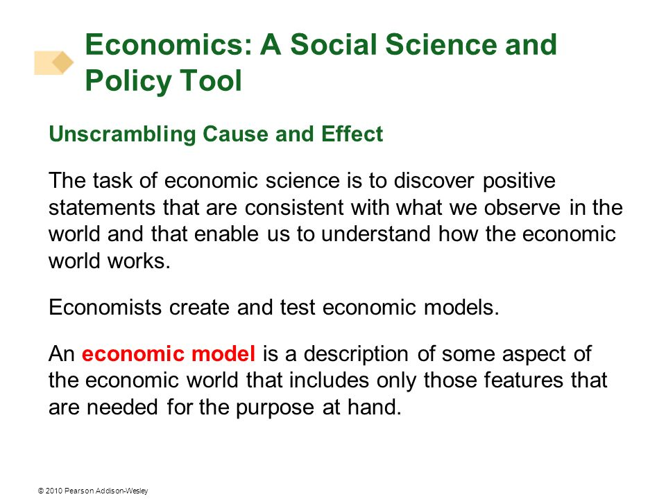 Economics: A Social Science and Policy Tool