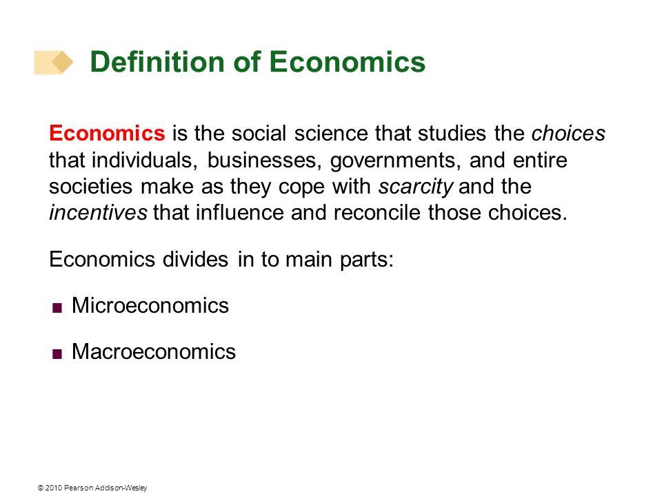 Definition of Economics