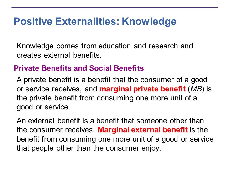 Positive Externalities: Knowledge