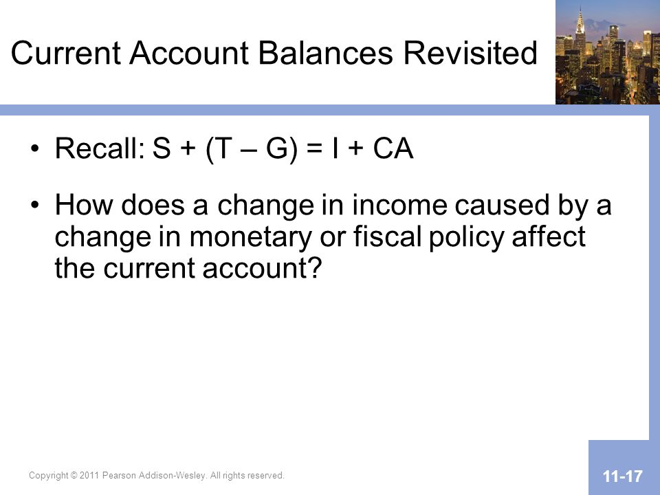 Current Account Balances Revisited