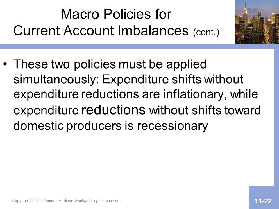 Macro Policies for Current Account Imbalances (cont.)