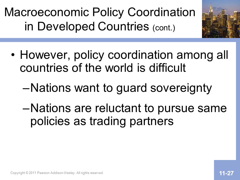 Macroeconomic Policy Coordination in Developed Countries (cont.)