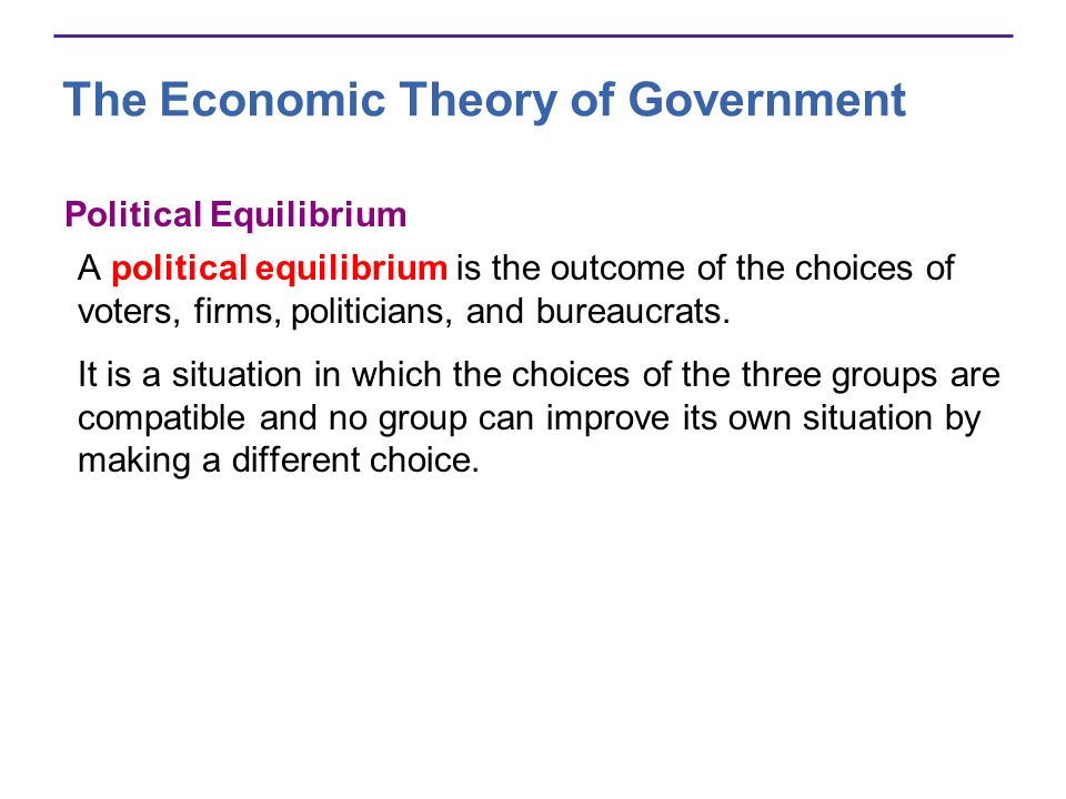 The Economic Theory of Government