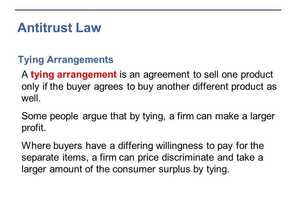 Antitrust Law Tying Arrangements