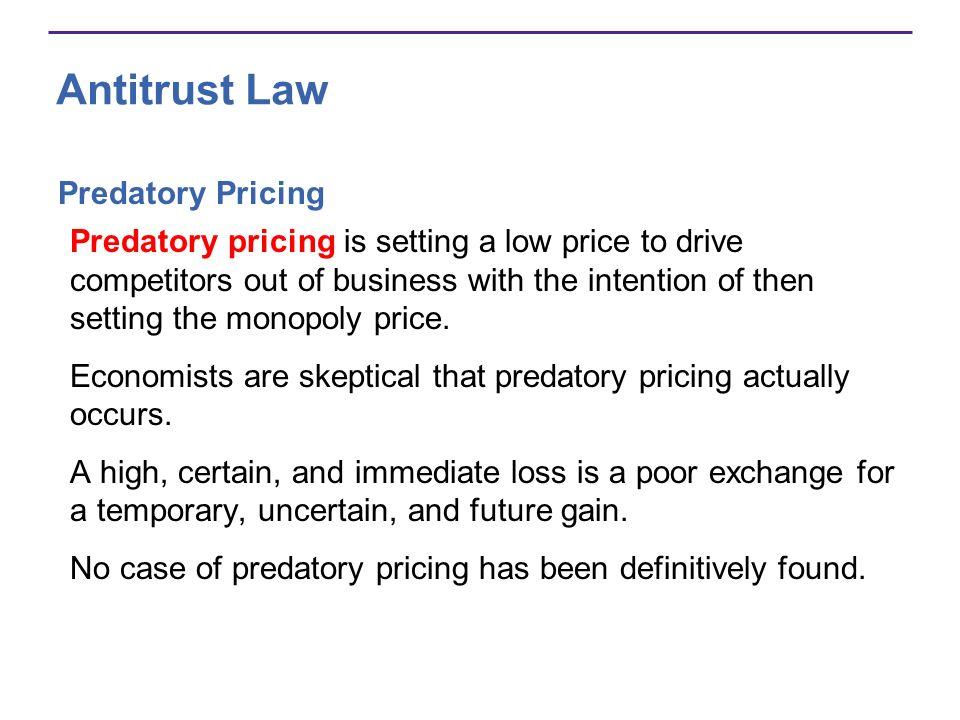 Antitrust Law Predatory Pricing