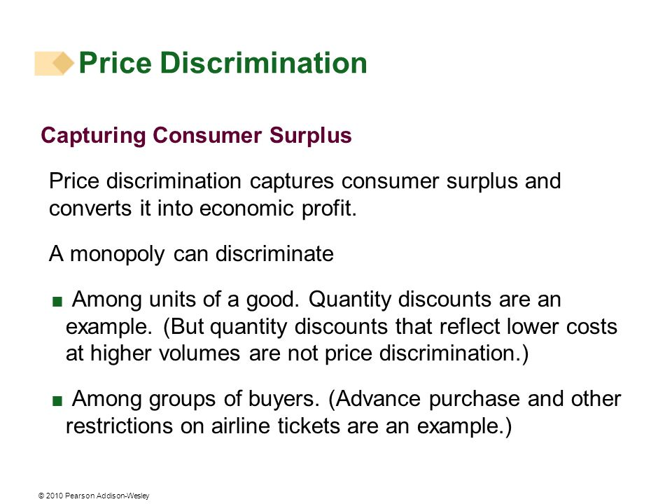 Price Discrimination Capturing Consumer Surplus