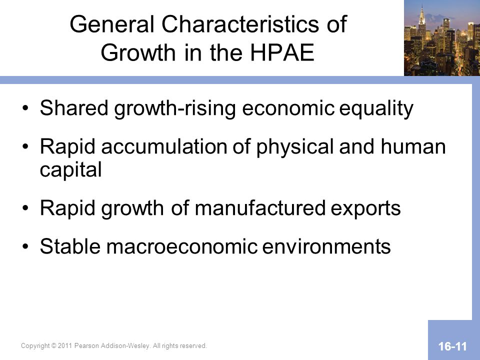 General Characteristics of Growth in the HPAE