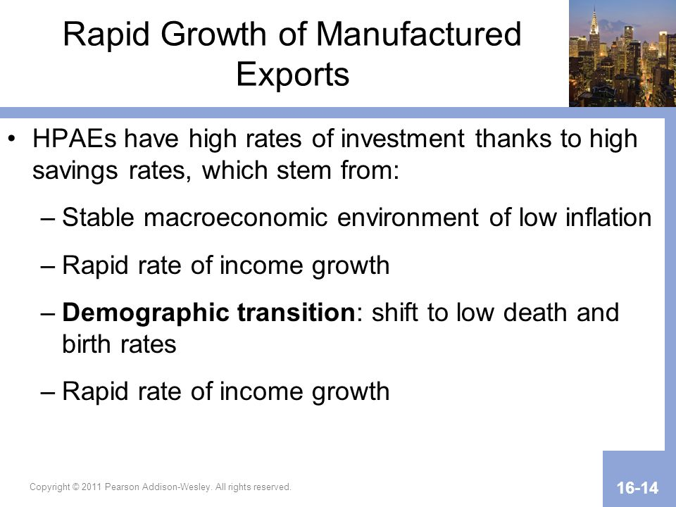 Rapid Growth of Manufactured Exports