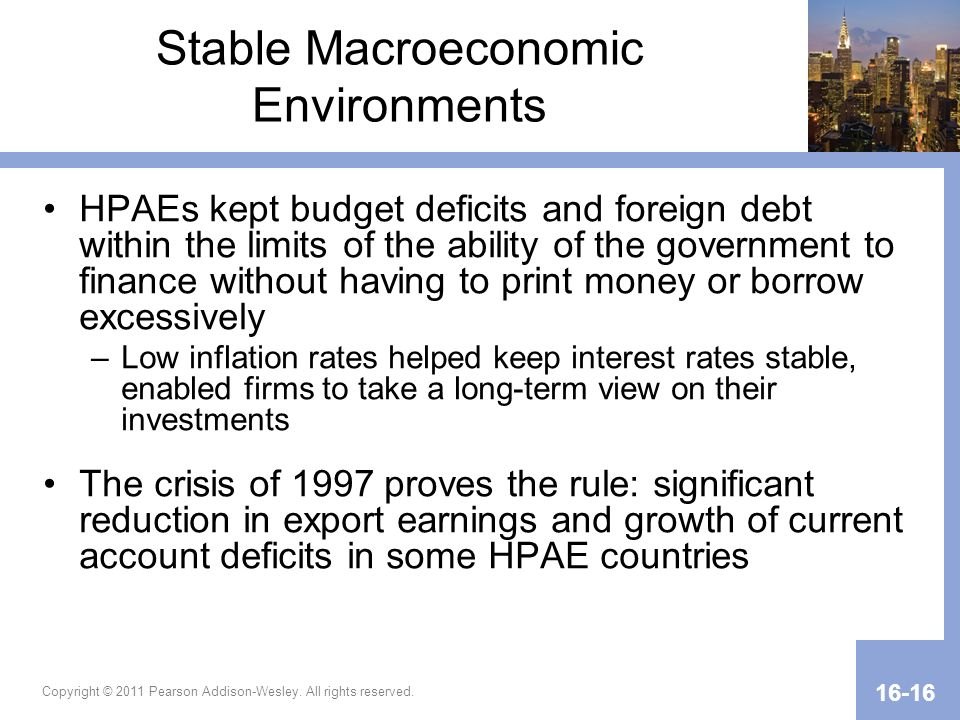 Stable Macroeconomic Environments