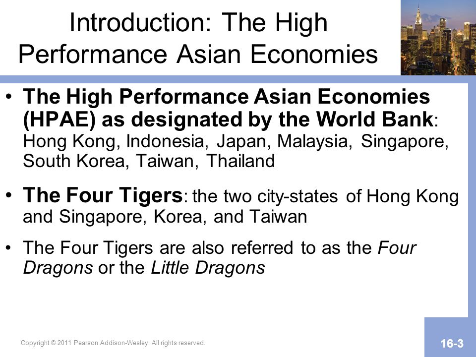 Introduction: The High Performance Asian Economies