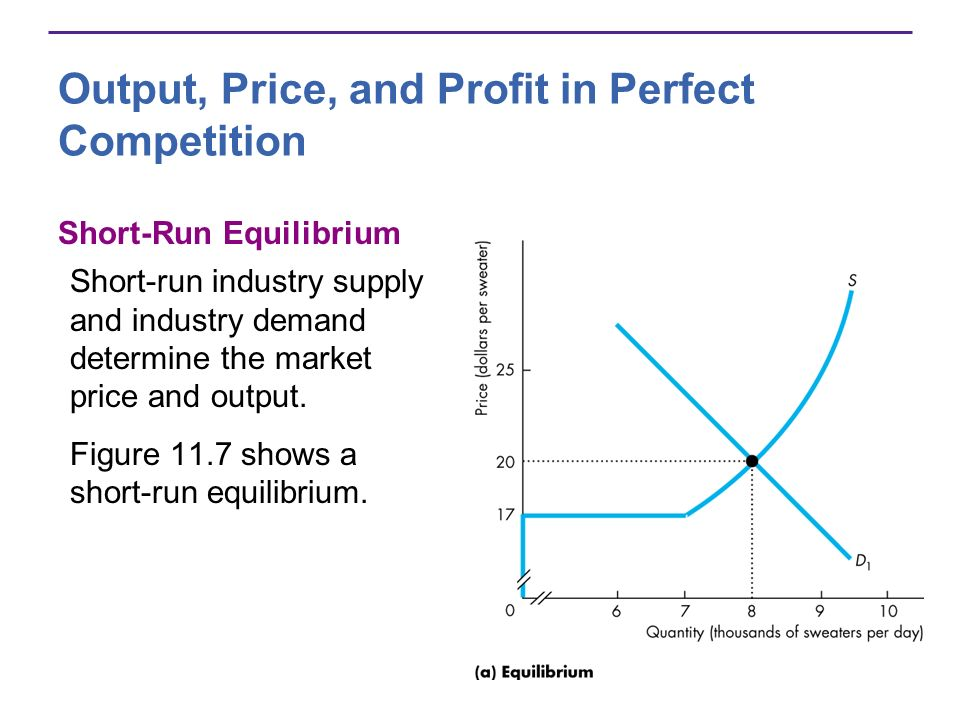 Output, Price, and Profit in Perfect Competition