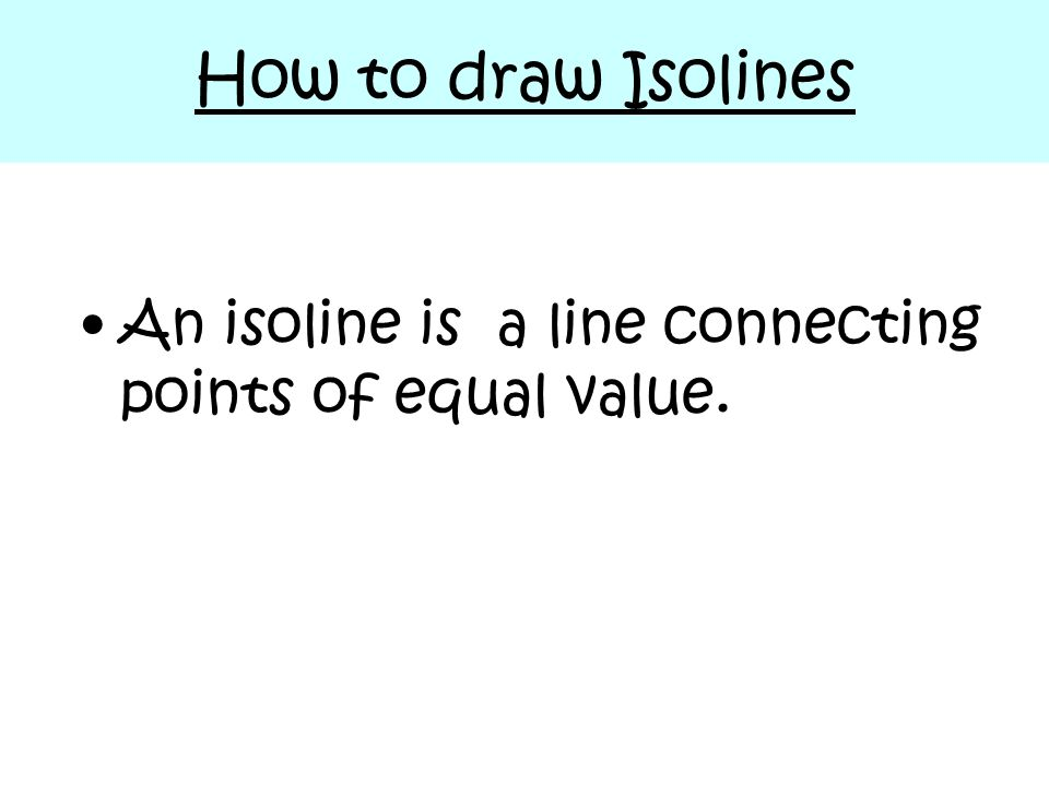 how to draw an isoline map