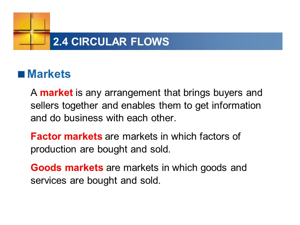 Markets 2.4 CIRCULAR FLOWS