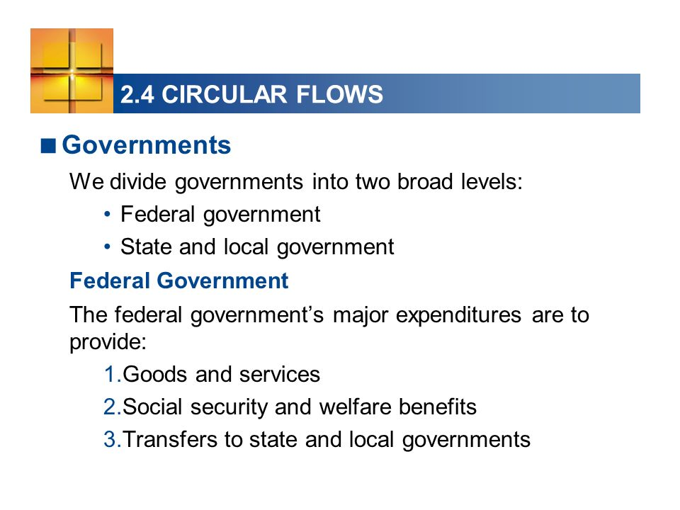Governments 2.4 CIRCULAR FLOWS