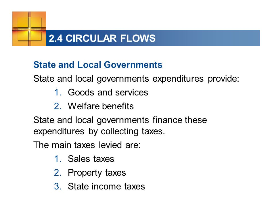 2.4 CIRCULAR FLOWS State and Local Governments