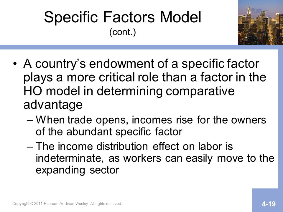 Specific Factors Model (cont.)