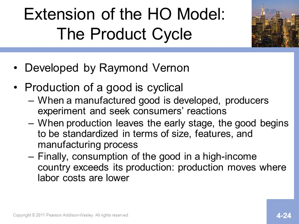 Extension of the HO Model: The Product Cycle