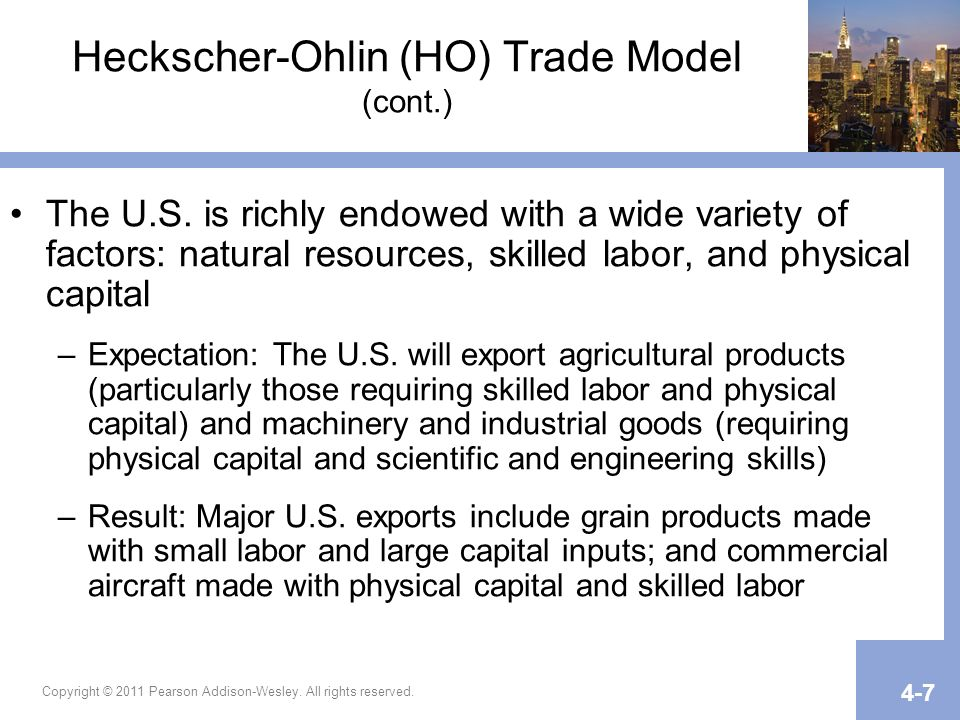 Heckscher-Ohlin (HO) Trade Model (cont.)