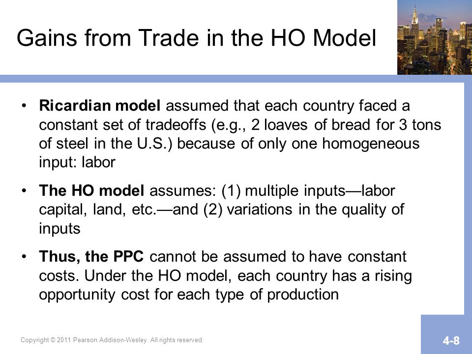Gains from Trade in the HO Model