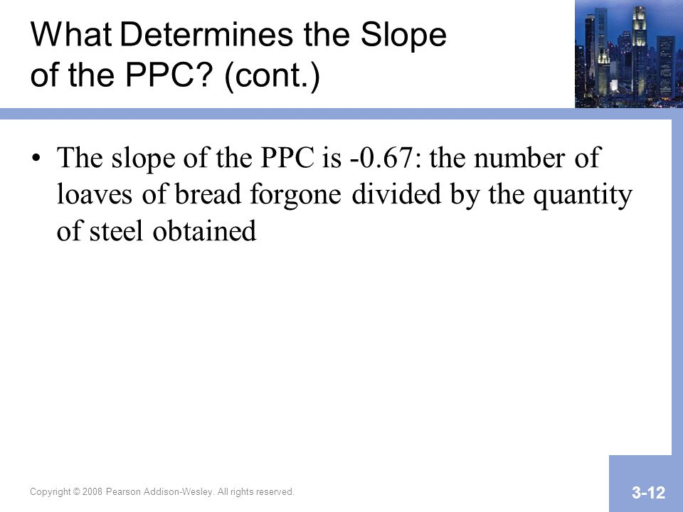 What Determines the Slope of the PPC (cont.)