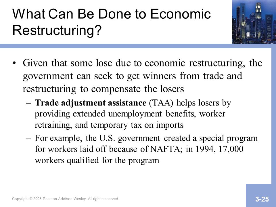 What Can Be Done to Economic Restructuring