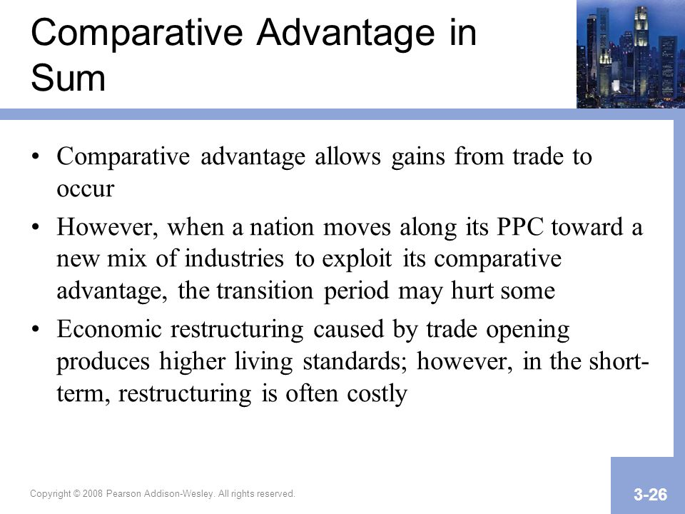 Comparative Advantage in Sum