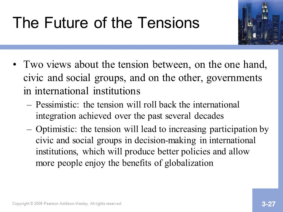 The Future of the Tensions