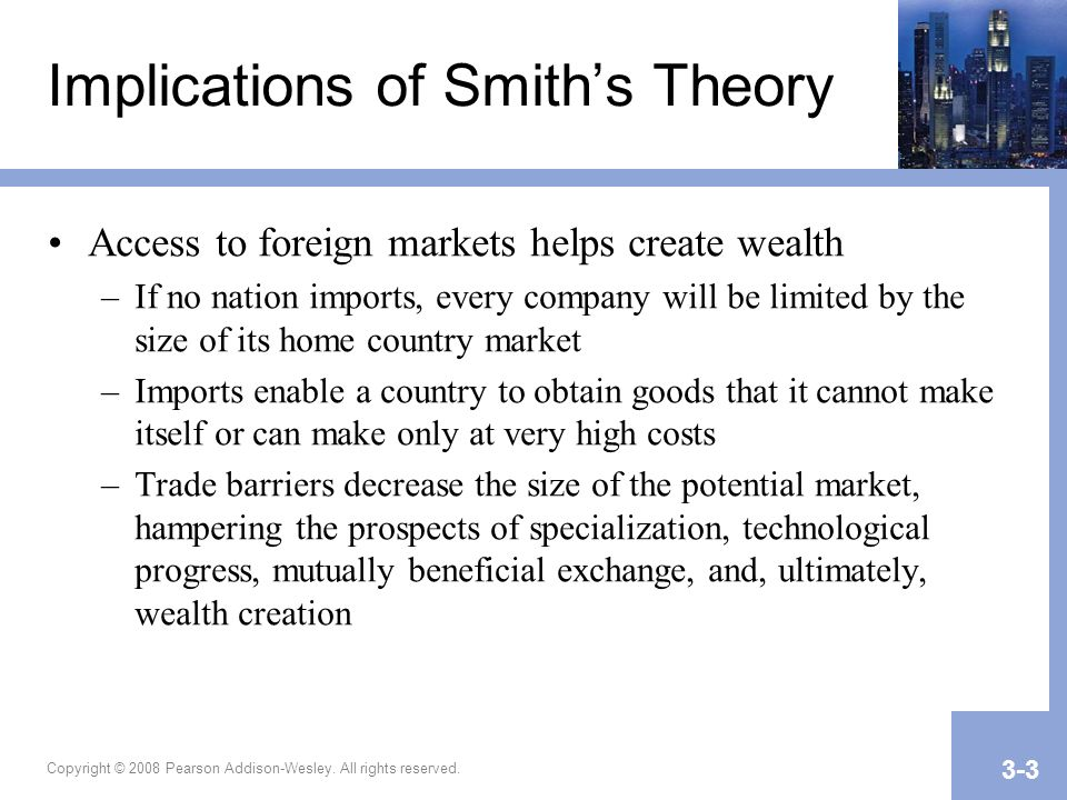 Implications of Smith's Theory