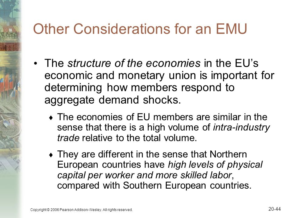 Other Considerations for an EMU