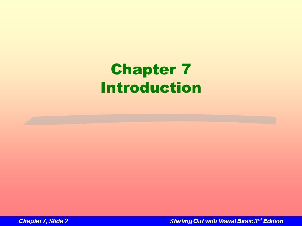 Chapter 7 Introduction